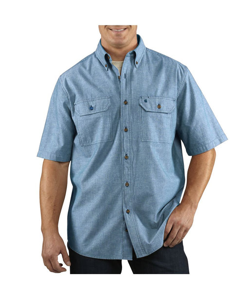 Carhartt Fort Solid Short-Sleeve Shirt - Chambray Blue