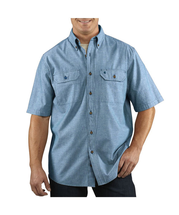 Carhartt Fort Short-Sleeve Shirt in Chambray Blue at Dave's New York
