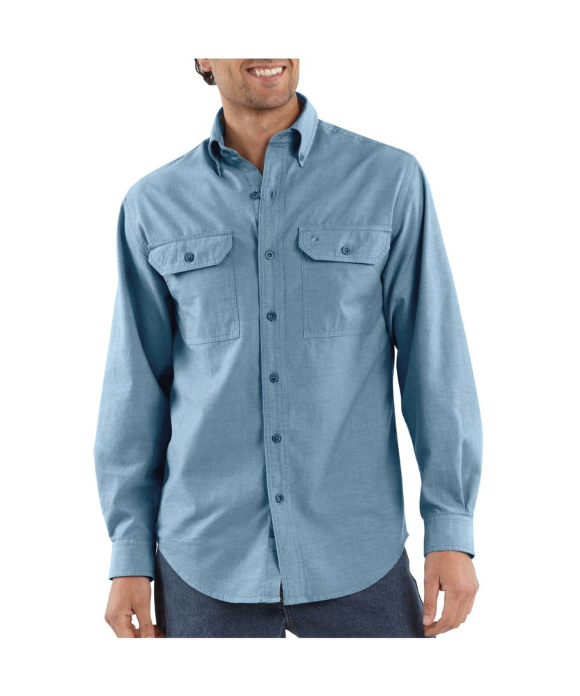 Carhartt Fort Long-Sleeve Chambray Work Shirt at Dave's New York