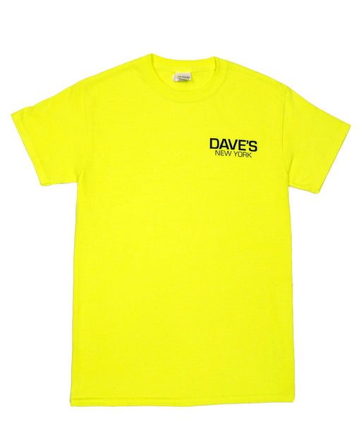 Dave's New York Short Sleeve Work Logo T-Shirt - Safety Green