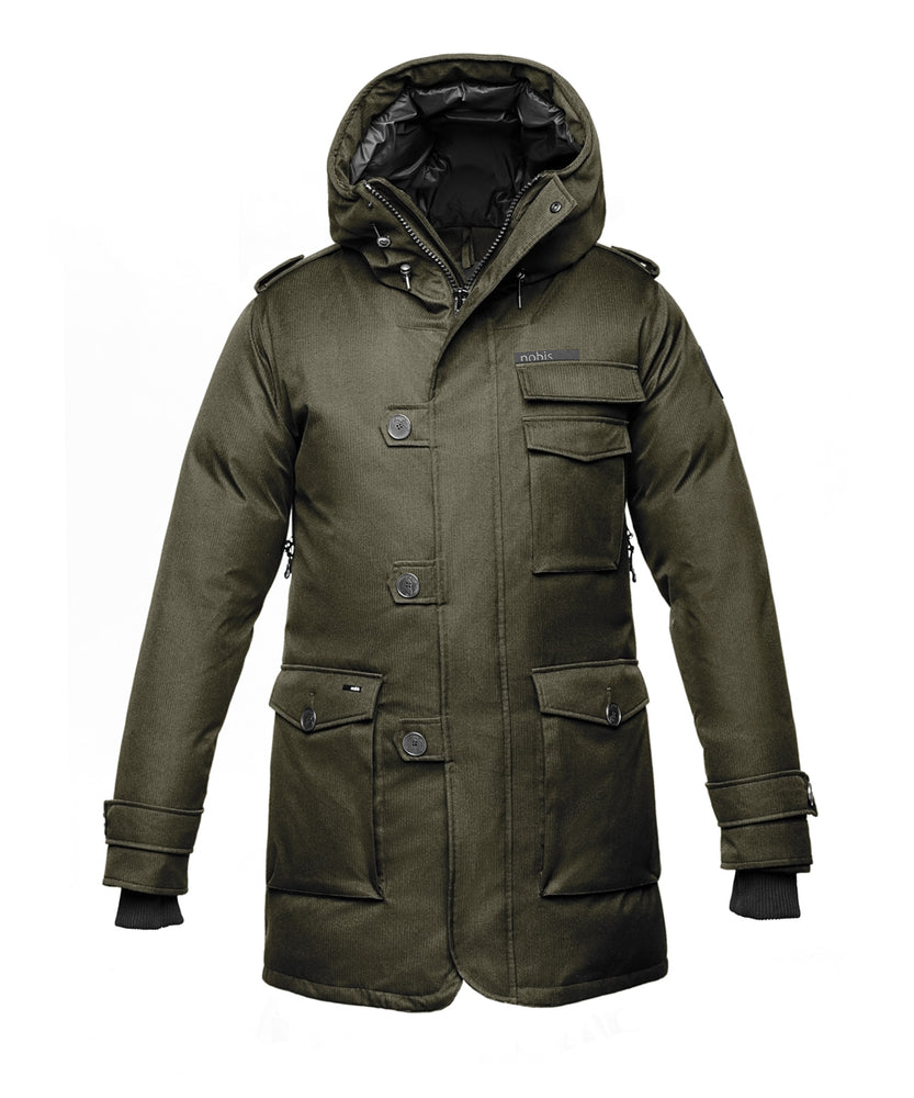 Nobis Men's The Shelby Military Down Parka in Army Green at Dave's New York