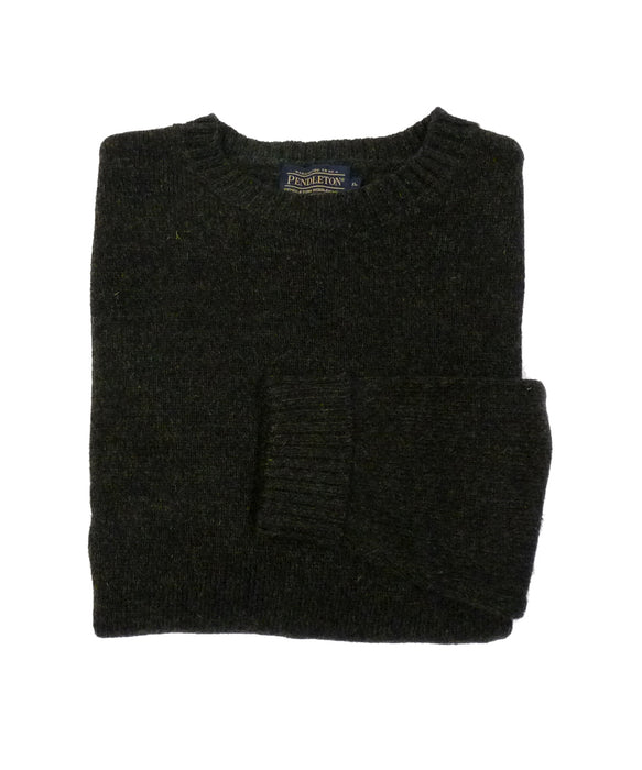 Pendleton Men's Shetland Crew Neck Sweater - Black Heather