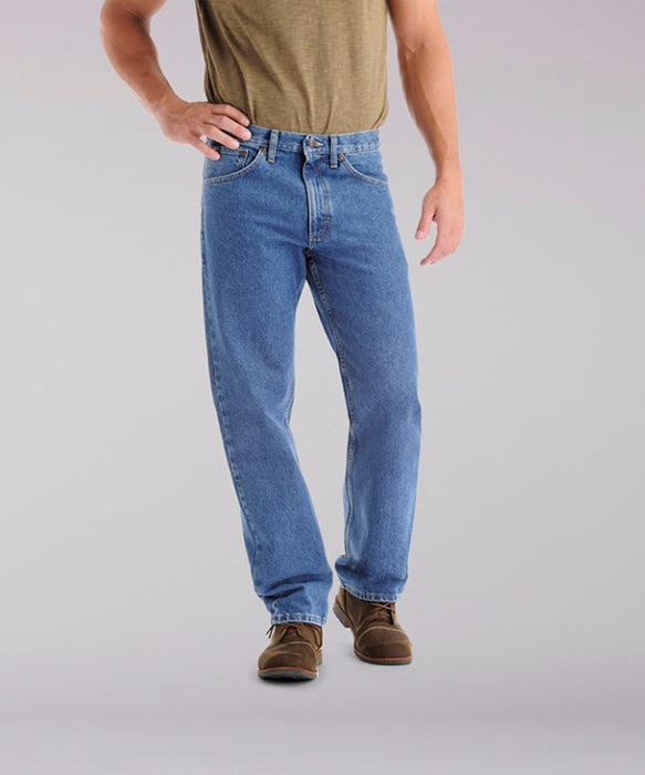 Lee Men's Regular Fit Straight Leg Jeans (Big & Tall) in Pepper Stone at Dave's New York