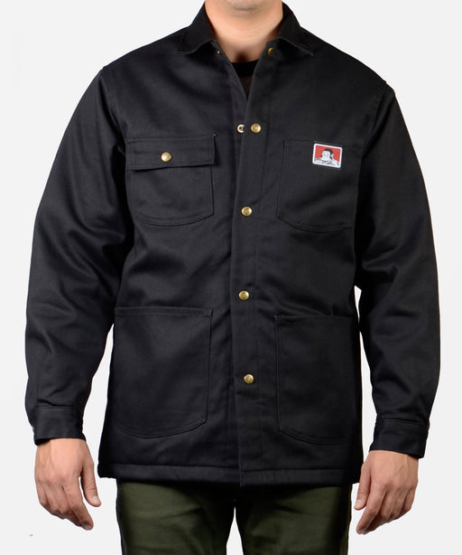 Ben Davis Men's Original Chore Coat, Snap-Front – Black Twill