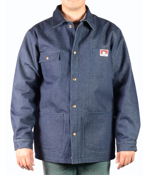 Ben Davis Men's Original Chore Coat, Snap-Front – Indigo Denim