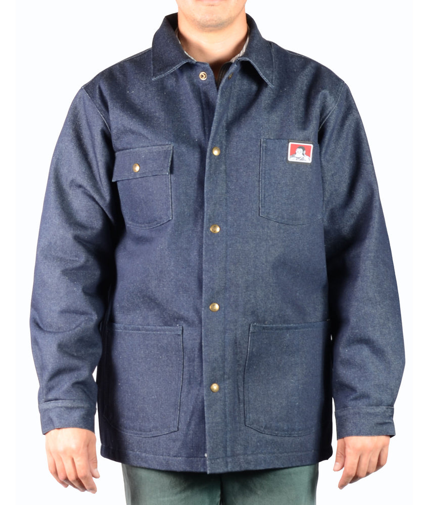 Ben Davis Men's Original Chore Coat - Indigo Denim