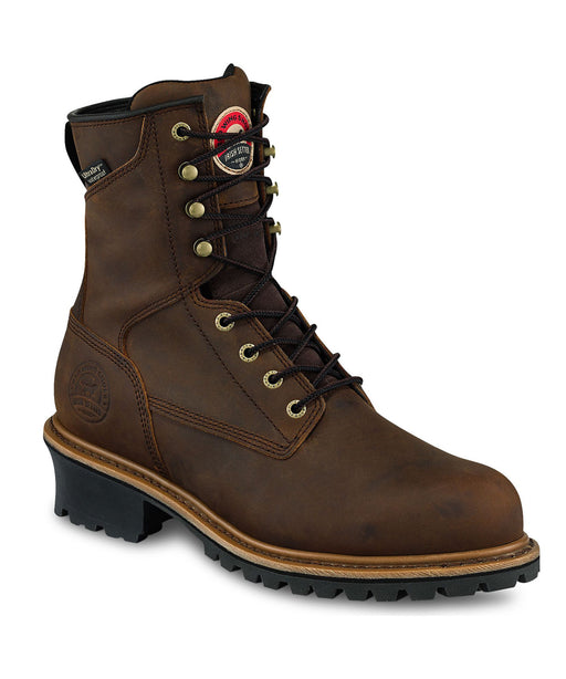 Irish Setter Men's Mesabi Insulated, Waterproof, Steel Toe Logger Boots in Brown at Dave's New York