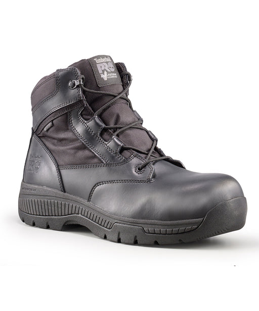 Timberland PRO Men's Valor Duty Waterproof, Composite Toe, Side-Zip Boots - Black