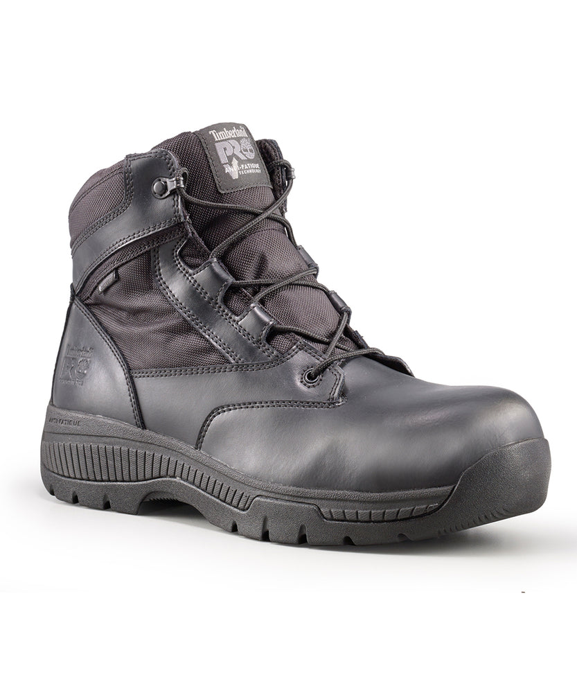 Timberland PRO Men's Valor Duty Waterproof, Composite Toe, Side-Zip Boots in Black at Dave's New York