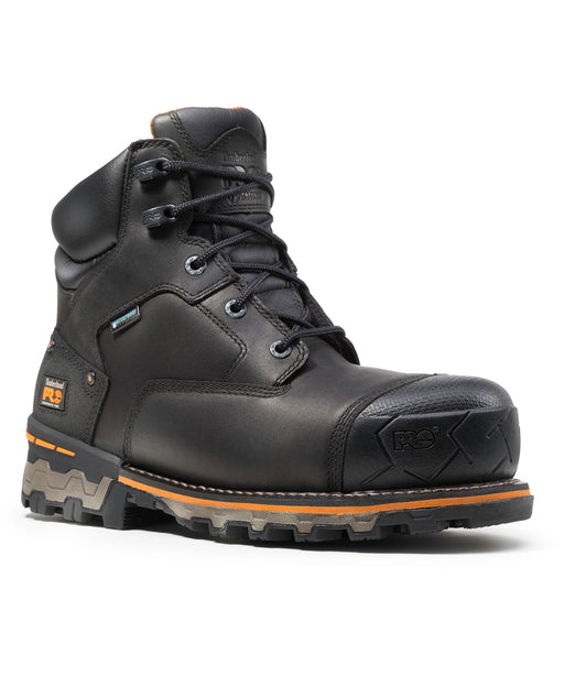 Timberland PRO® Men's Boondock 6-inch Composite Toe Work Boots in Black at Dave's New York