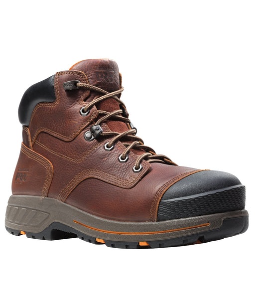 "Timberland PRO® Men's 6"" Helix HD Composite Toe Work Boot – A1I4H–Brown"