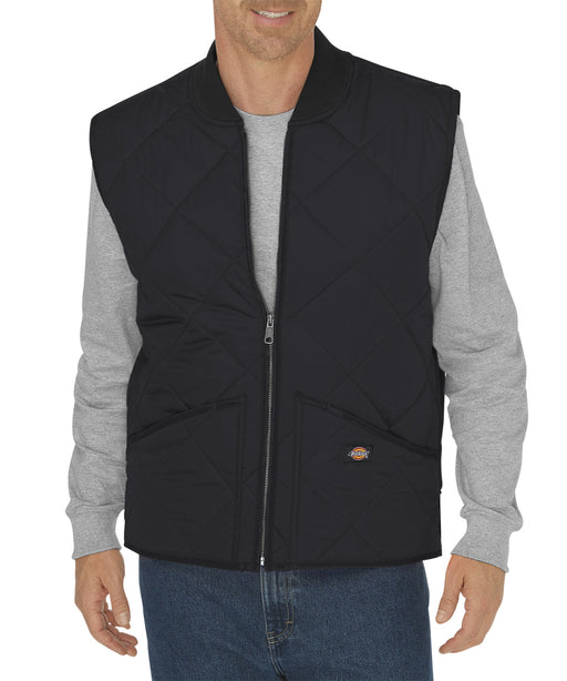 Dickies Diamond-Quilted Nylon Vest - Black