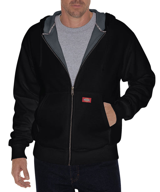 Dickies TW382 Thermal Lined Fleece Hoodie – Black
