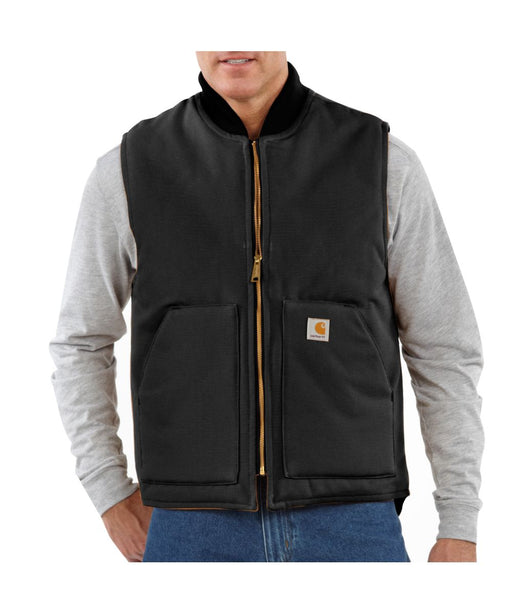 Carhartt V01 Duck Vest in Black at Dave's New York