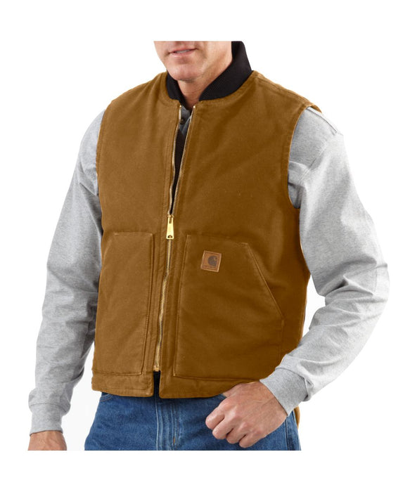 Carhartt V02 Sandstone Vest in Carhartt Brown at Dave's New York