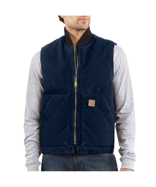Carhartt V02 Sandstone Vest in Midnight at Dave's New York