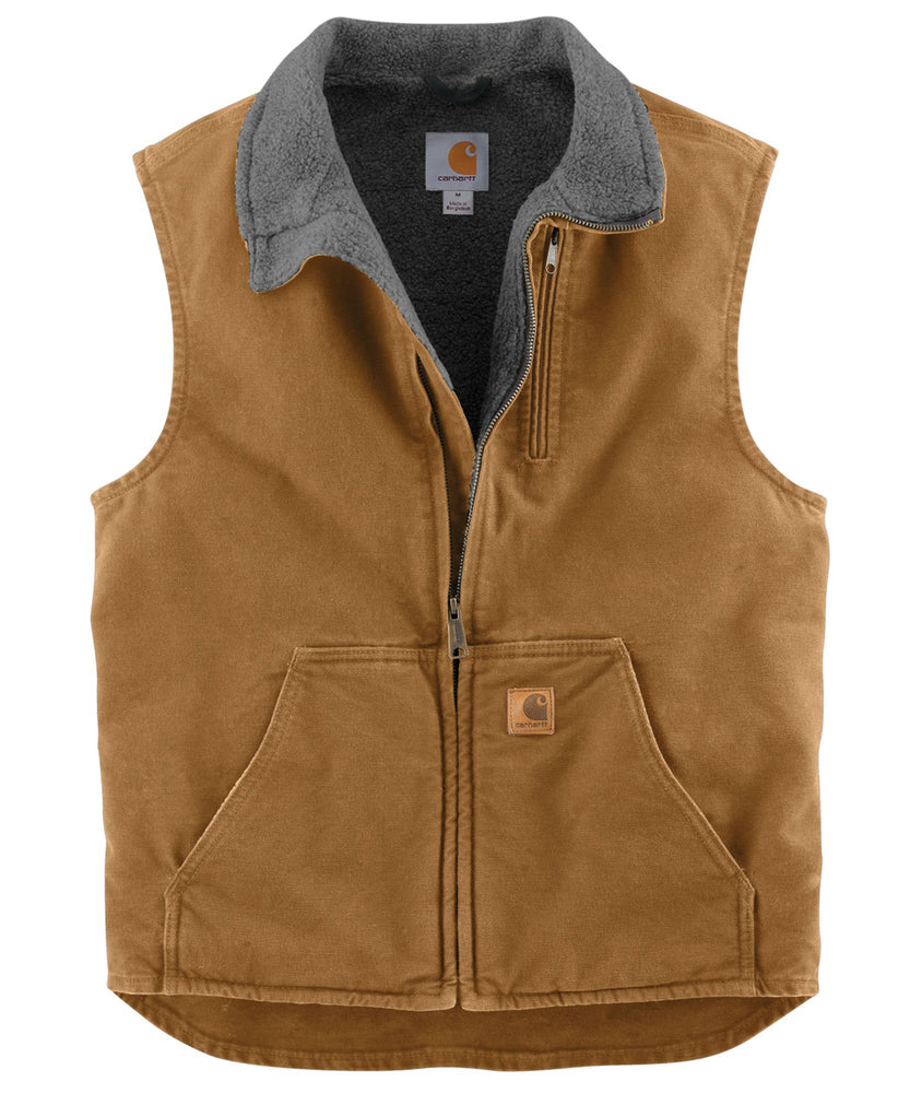 Carhartt V33 Mock Neck Vest - Carhartt Brown