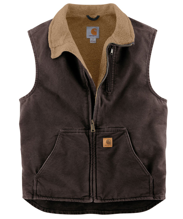 Carhartt V33 Mock Neck Vest - Dark Brown