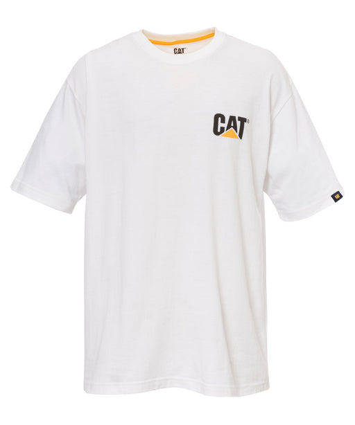 Caterpillar Short Sleeve Trademark Tee Shirt - White