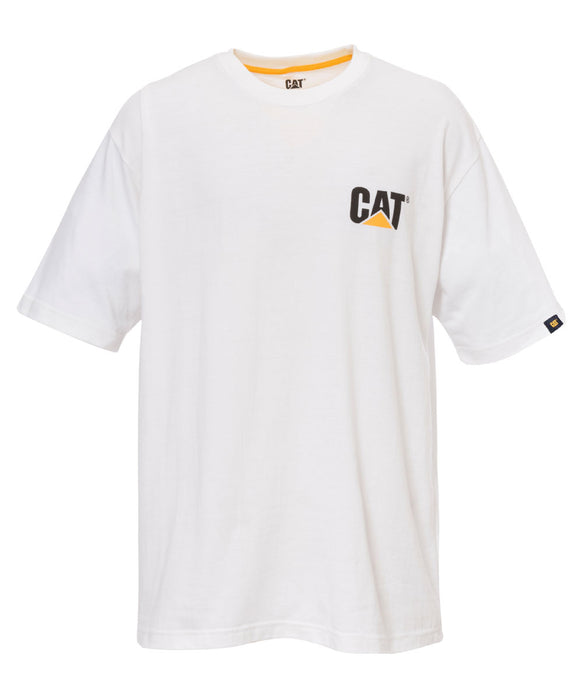 Caterpillar Short Sleeve Trademark T-Shirt in White at Dave's New York