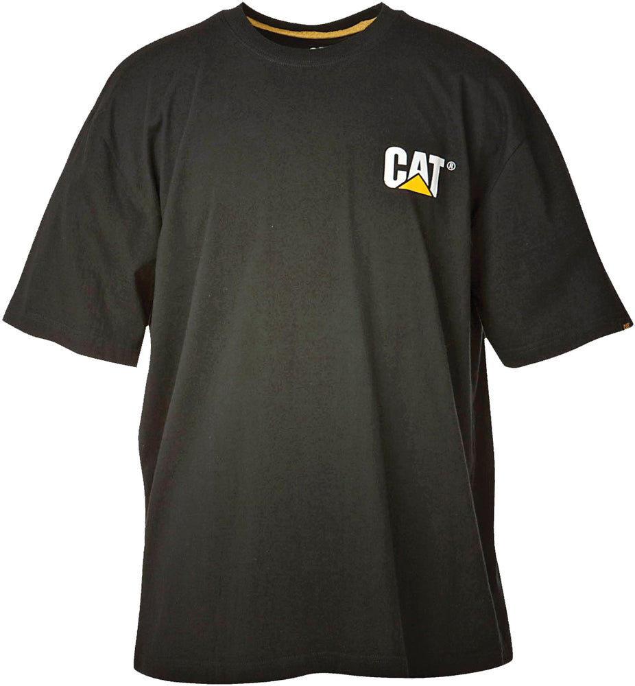 Caterpillar Short Sleeve Trademark Tee Shirt - Black
