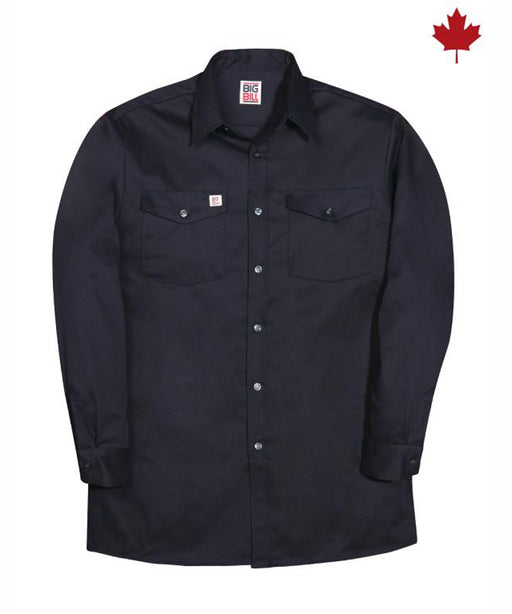 Big Bill Men's Premium Cotton Work Shirt - model 100 - Navy