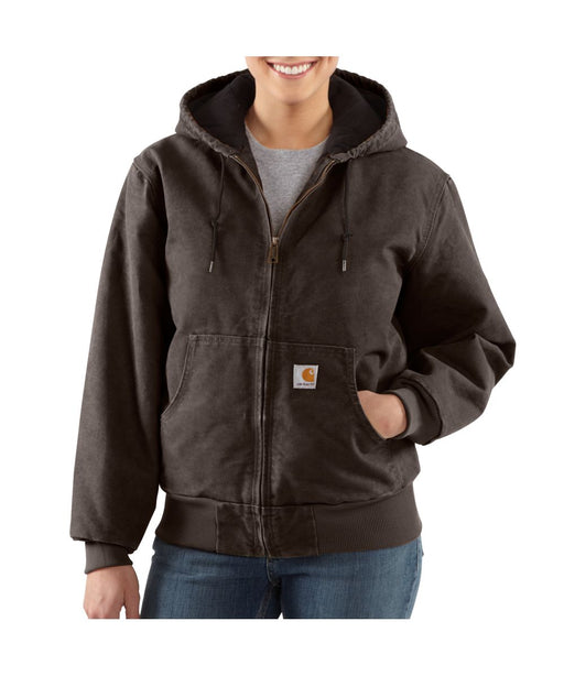 Carhartt Women's Sandstone Active Jacket in Dark Brown at Dave's New York
