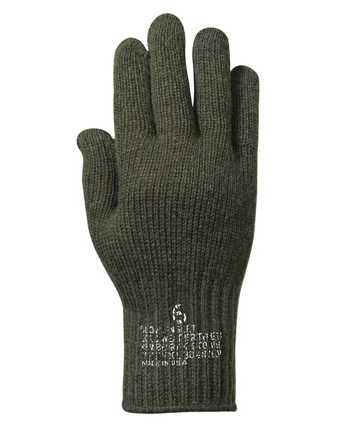 Rothco Genuine G.I. Wool Glove Liners in Olive Drab at Dave's New York