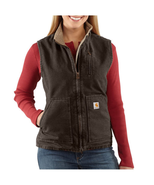 Carhartt Women's Sandstone Mock Neck Vest (WV001) – Dark Brown