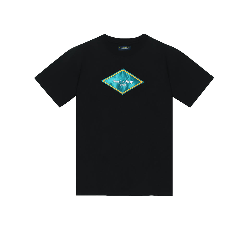DILLY TEE  BLK&TRQ