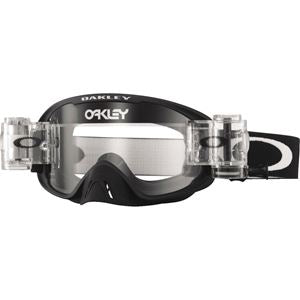 Oakley O Frame - Race-Ready - Jet Black MX Goggles with Clear Lens & Roll-Offs