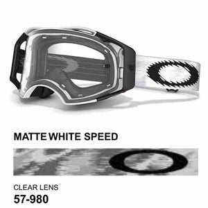 Oakley Airbrake - Matte White Speed MX Goggles with Clear Lens