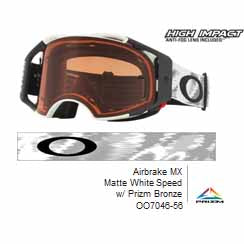 Oakley Airbrake - Matte White Speed MX Goggles with Prizm Bronze Lens