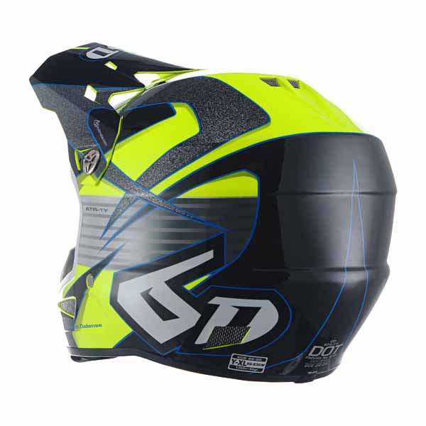 6D ATR-1 Youth Helmet - Avenger Neon Yellow
