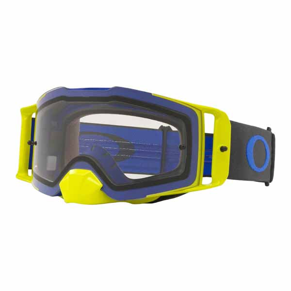 Oakley Front Line - Blue/Green MX Goggles with Clear Lens