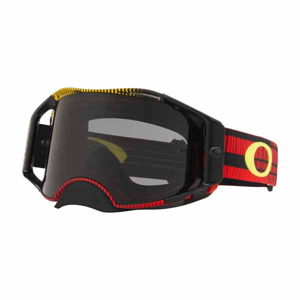 Oakley Airbrake - Frequency Red/Yellow MX Goggles with Dark Grey Lens