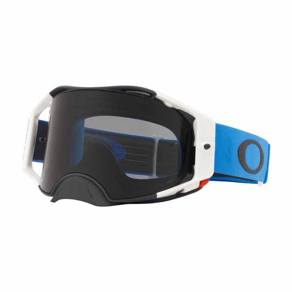 Oakley Airbrake - Blue Gunmetal MX Goggles with Dark Grey Lens