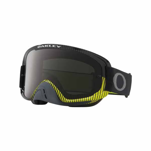 Oakley O Frame 2.0 - Frequency Gunmetal/Green MX Goggles with Dark Gray & Clear Lenses
