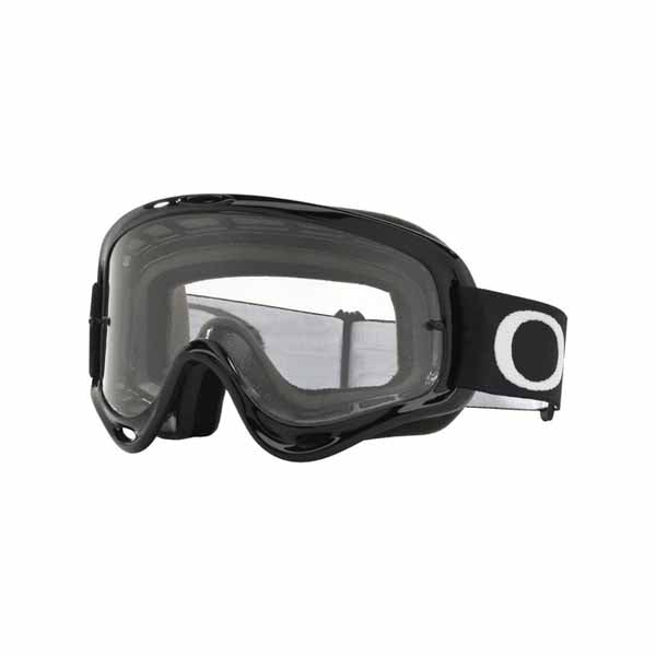 Oakley O Frame - Jet Black MX Goggles with Clear Lens