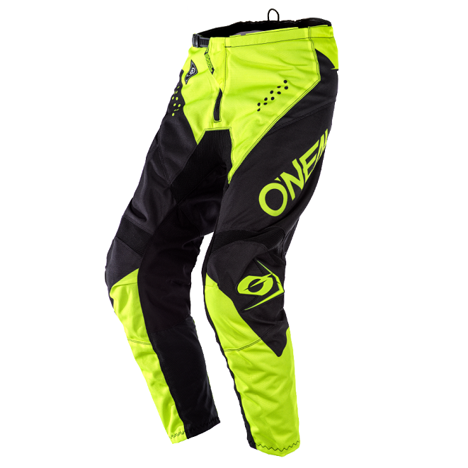 ONEAL Element Racewear Pants - Black/Neon Yellow - Youth & Adult