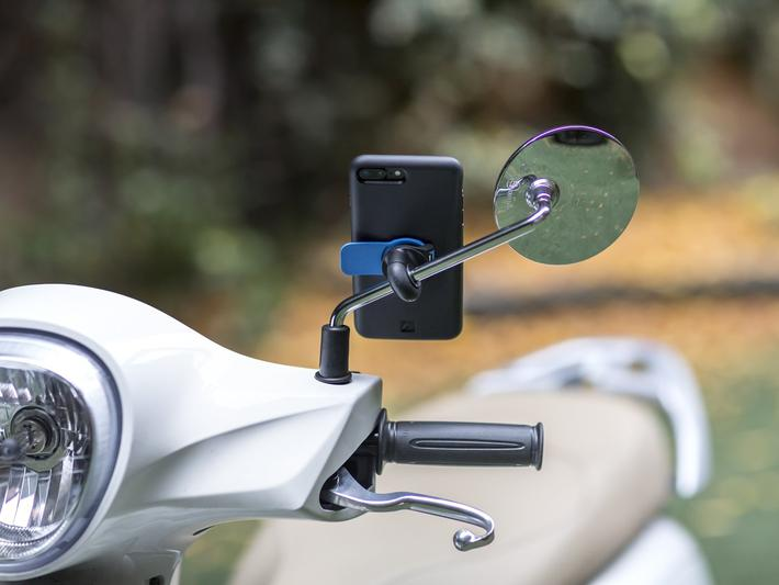 Motorcycle/ Scooter Mirror Mount Quad Lock