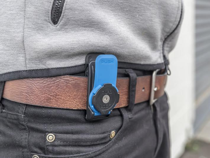 Quad lock belt clip