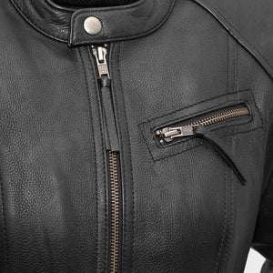 First Manufacturing Fashionista - Women's Motorcycle Leather Jacket