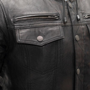 First Manufacturing Vendetta - Men's Leather Motorcycle Jacket