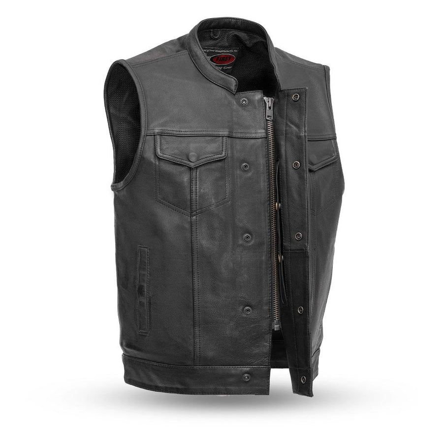 Sharp Shooter - Men's Motorcycle Leather Vest