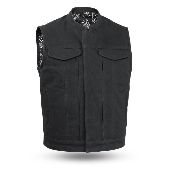 First Manufacturing Highland V2 - Men's Motorcycle Canvas Vest