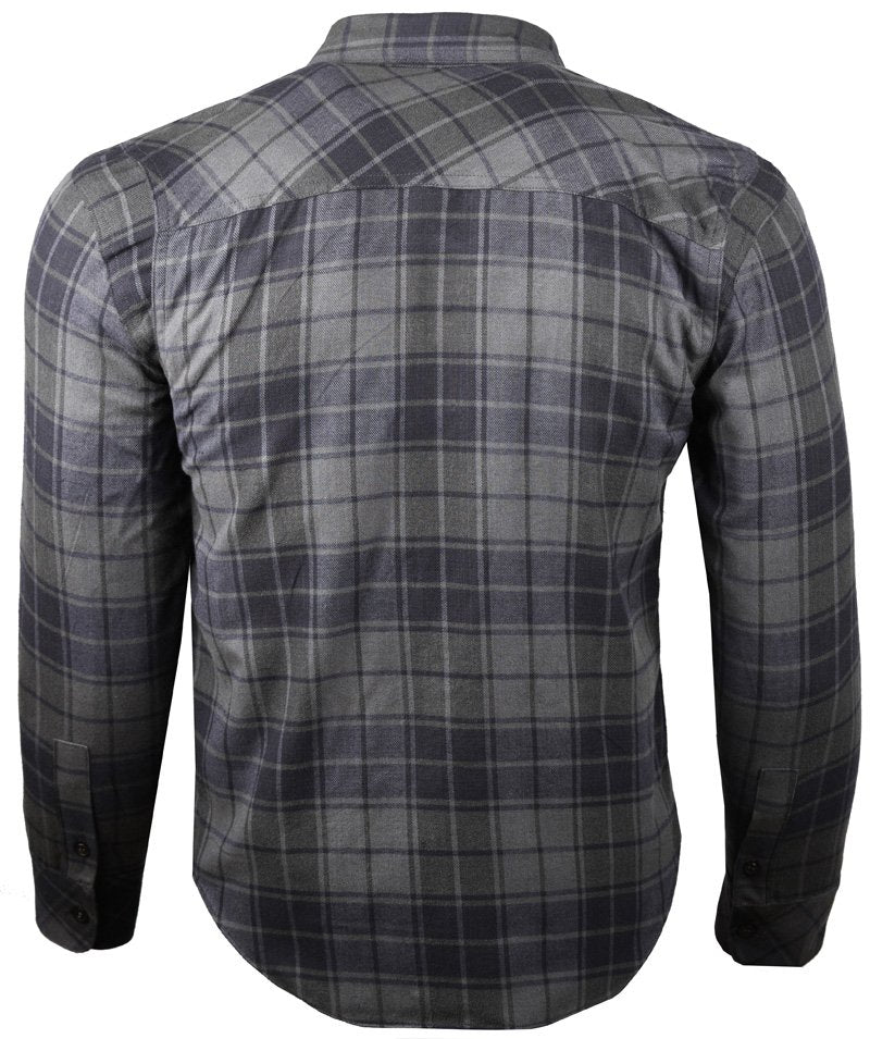 Resurgence Gear Plaid Motorcycle Shirt - Black & Grey
