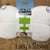 Bath Pillow with Suction Cups | Relaxation | Spa Therapy - Lucy's Stores
