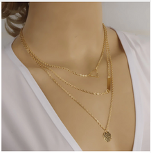 Laden Sie das Bild in den Galerie-Viewer, Sequins Multi-layer Chain Gold Necklace Women