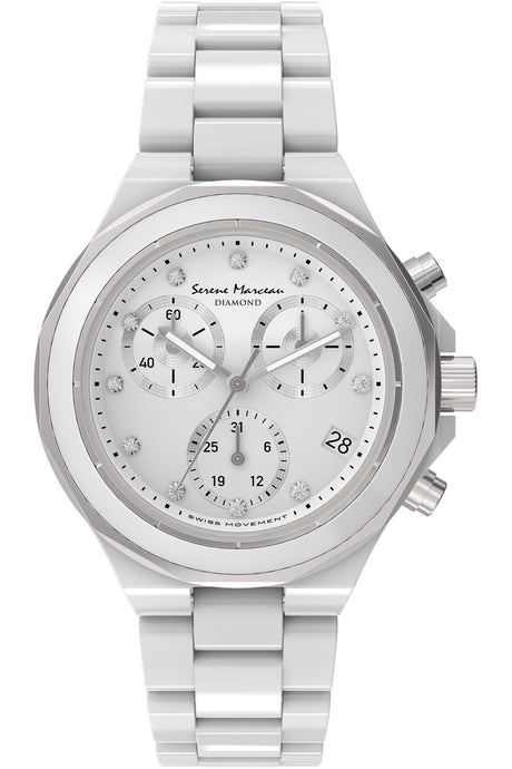 Serene Marceau Diamond Saint Germain Watch - Ladies Quartz Chronograph